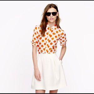 J. CREW   perfect shirt citrus print silk blend 0